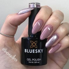Bluesky Gel Polish DC72 & QXG163 #blueskygelpolish #blueskygelnails #blueskynails #blueskygel #bluesky #nails #nails💅 #nailart #nailswag… Bluesky Nails, Bluesky Gel Polish, Gel Nail Art Designs, Colorful Nail Designs, Nail Swag, Fancy Nails, Pretty Nails, Ongles Or Rose, Gel Nail Varnish