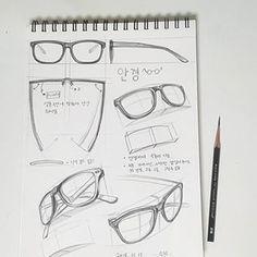 Interior Design Sketches, Industrial Design Sketch, Sketch Design, Basic Sketching, Technical Drawing, Glasses Sketch, Drawing Glasses, Cartoon Drawings, Pencil Drawings