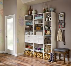 Get ready to usher in autumn with a new entryway that organizes everything from firewood to boots.  #EntrywayIdeas #Mudroom #HomeOrganization Fall Entryway, Closet System, Closet Bedroom, Staying Organized, Other Rooms, Mudroom, Home Organization, Sweet Home, Storage