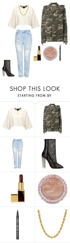 """""""Army Green Jacket"""" by fashionislife-759 ❤ liked on Polyvore featuring Faith Connexion, Topshop, adidas Originals, Tom Ford, Charlotte Russe and Eyeko"""