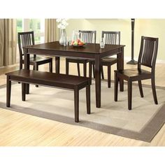 Better Homes And Gardens Bankston Dining Bench Mocha  Walmart Entrancing Better Homes And Gardens Dining Room Decorating Inspiration