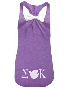 I want this as my Big Little shirt!!! Sigma Kappa #bowtank