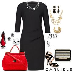 """Carlisle: Summer Little Black Dress"" by carlislecollection on Polyvore"