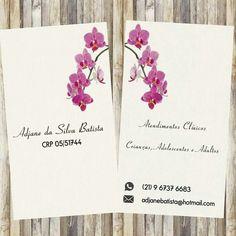 Cartão de visita - Psicologia Minimalista Orquídeas