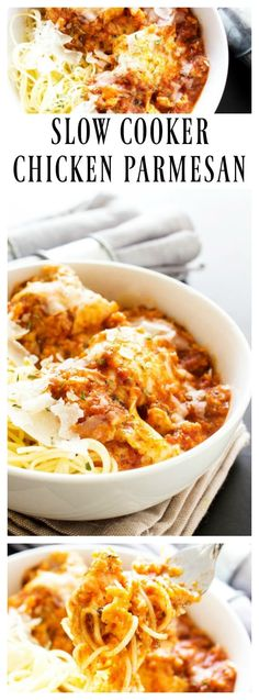 Today l will be sharing this easy Slow Cooker Chicken Parmesan and Pasta recipe l came across recently. The easiest chicken Parmesan I have ever made. Crock Pot Slow Cooker, Crock Pot Cooking, Slow Cooker Chicken, Slow Cooker Recipes, Crockpot Recipes, Cooking Recipes, Chicken Recipes, Top Recipes, Cooking Oil