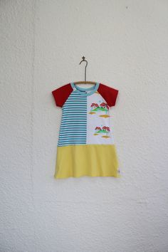 Kid's Dress Upcycled T Shirt Dress Girl's by cynthiamadeforkids