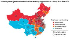 There's a looming water crisis coming for China's water-hungry coal plants, Roughly sixty percent of China's power plants (most of them running on coal) are located in Northern China, but only 20 percent of the country's fresh water is found in the North.