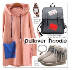 """""""Pullover Hoodie"""" by oshint ❤ liked on Polyvore featuring Laura Geller"""