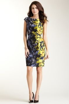 Ruched Side Sheath Dress by Suzi Chin on @HauteLook I love this one.