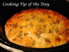 Cooking Tip of the Day: Recipe: Crockpot Breakfast Casserole