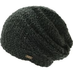 Instantly improve any outfit with a new handmade Krochet Kids Betty red beanie. Grab yourself a comfortable crochet constructed all-acrylic beanie in a washed black colorway with slight slouch fit, a Krochet Kids brand tag on the bottom hem and an inner tag signed by the artisan who handmade it.