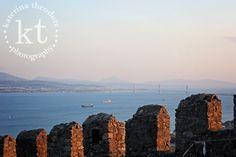 Katerina Theodore Photography | Rio Antirio from the Nafpaktos Venetian Castle, Nafpaktos, Greece #bridge #Greece #castle #fort