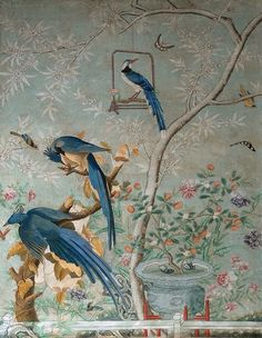 Details of Chinoiserie Wallpaper