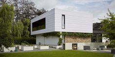 Uitbreiding van modernistische villa in Sint-Niklaas - arQ Architectenbureau i.s.m. architect D. Van de Velde, Sint-Niklaas - Koramic Tegelpan 301 Wit Geglazuurd