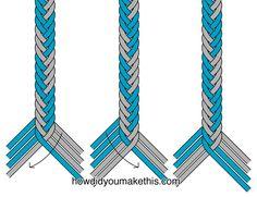 treza de espiga con 8 hilos  http://howdidyoumakethis.com/fishtail-braid-version-1/