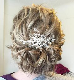 Messy Curly Updo For Medium Hair