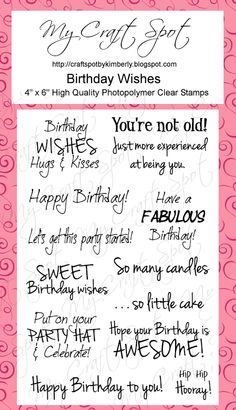 My Craft Spot: Monday Challenge #58 - Birthday: What's your age?!