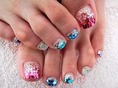 Glam pedi ideas