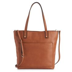 A faux-leather finish and convertible strap gives this LC Lauren Conrad tote bag a versatile accessory you'll love. Chanel Handbags, Fashion Handbags, Chanel Bags, Designer Handbags, Leather Handbags, Crossbody Tote, Tote Bag, How To Have Style, Chain Shoulder Bag