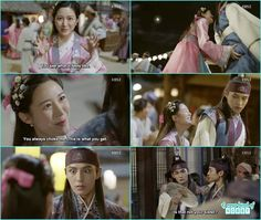 Soo yeon though its a great opporchunity to take revenge on So hoo when she grab the butt of he turned out to be Ban ryu -  Hwarang - Episode 7 Review