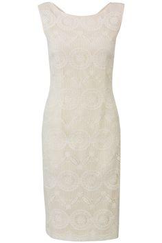 Organza jurk met borduurwerk Wit