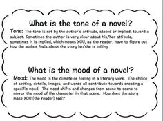 tone or mood of a story