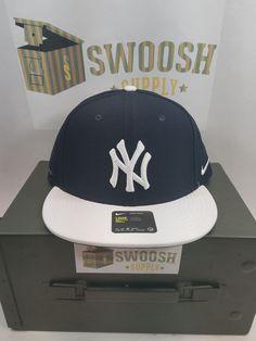 b8d3dd9ba0e898 New York Yankee AeroBill NYY Hat One Size Dri Fit Navy White Adjustable # Nike New