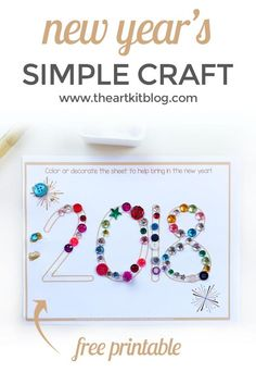 17 Best New Year S Images Day Care Art Projects For Toddlers New