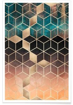 Ombre Dream Cubes - Elisabeth Fredriksson - Premium Poster