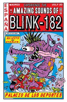 Blink-182 Madrid Exclusive Kozik Version