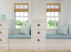 lynn morgan artist | Lynn Morgan Design - bedrooms - white, beadboard, built-ins, window ...