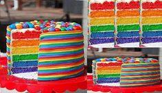 tortas de cumpleaños multicolor - Buscar con Google