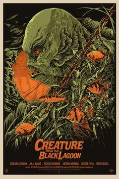 Ken Taylor ilustrações poster cartaz filmes silkscreen Creature from the Black Lagoon (O Monstro da Lagoa Negra) Horror Movie Posters, Movie Poster Art, Music Posters, Art Posters, Ken Taylor, Gorgeous Movie, Tv Movie, Horror Monsters, Famous Monsters