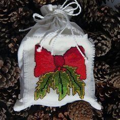 Linen Christmas bag hand made by Mafana on Etsy