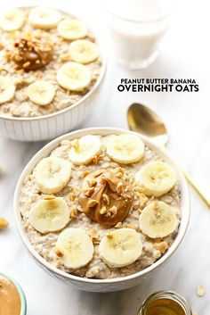 20 High Protein Breakfast Ideas for Kids These peanut butter banana overnight oats combine all of your favorite flavors to make the most delicious, high-protein breakfast made in under 5 minutes! High Protein Breakfast, Breakfast For Kids, Breakfast Recipes, Breakfast Ideas, Healthy Foods To Eat, Healthy Snacks, Healthy Recipes, Stevia, Pancakes Protein