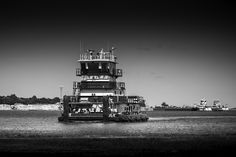 Tugboat On the Neches River, Port Arthur http://mabrycampbell.com #image #photo #photograpny #tugboat #portarthur #industry #blackandwhite #mabrycampbell #nechesriver #texas #boat #tug
