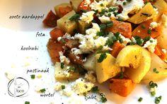 Geroosterde groenten en feta