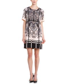 Adrianna Papell Blush Tapestry Print Shift Dress is on Rue. Shop it now.