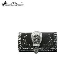 $64.99 black rhinestone buckle Collection leather Wallet