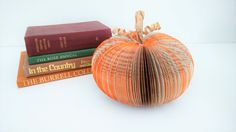 Paper Pumpkin Halloween Decoration Medium by CreatonCrafts on Etsy