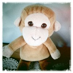 Dibbles the screaming monkey who was always good for making people jump when he sneaked up and launched himself into their room, screaming as he flew through the air Sneaks Up, Mug Shots, Old Friends, Monkey, Product Launch, Teddy Bear, People, Room, How To Make