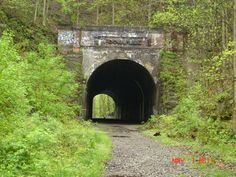 """Moonville Tunnel,  Hocking Hills, Ohio - This is a """"haunted"""" tunnel with two ghosts, one a """"brake-man"""" & the other a young girl."""