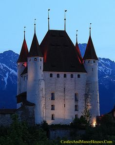 Thun Castle, Thun, canton of Bern, Switzerland....      http://www.castlesandmanorhouses.com/photos.htm   ...      Thun Castle (German: Schloss Thun)  was built between 1180 to 1190 by Duke Berthold V of Zähringen, Today it houses the Thun Castle museum, and is a Swiss heritage site of national significance.