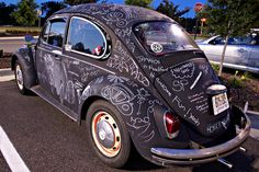 chalkboard vw bug