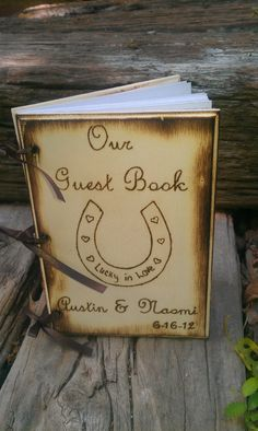 Rustic Chic Wedding Guest Book or Words of Wisdom by WildFireFlies,