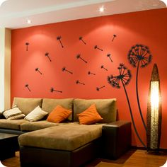 Dandelion Puffs (wall decal from WallWritten.com).
