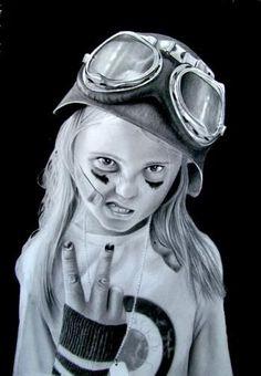 """Attitude"" #Creative #Art in #sketching @Touchtalent"