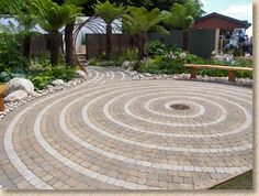 Walking meditation circle, if I ever have enough of a yard or land at my house, this is an absolute build!