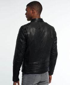 Superdry Leading Leather Racer Jacket