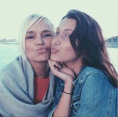Yolanda Foster and her youngest daughter Bella Hadid.